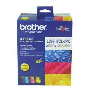 Brother LC67XL Value Pack (Triple Pack)