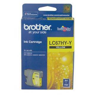 Brother LC67XL Yellow Ink Cartridge (750 Pages)