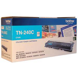 Brother TN240 Cyan Toner Cartridge (1400 Pages)