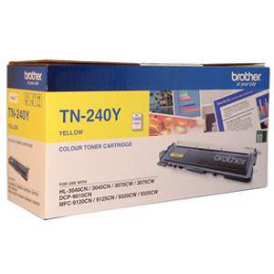 Brother TN240 Yellow Toner Cartridge (1400 Pages)