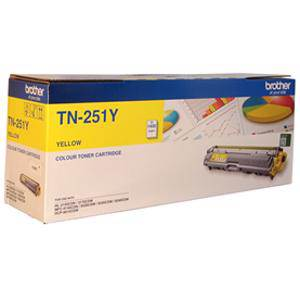 Brother TN251 Yellow Toner Cartridge (1400 Pages)