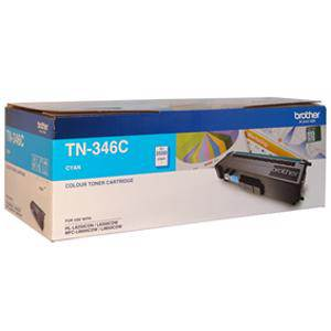 Brother TN346 Cyan Toner Cartridge (3500 Pages)