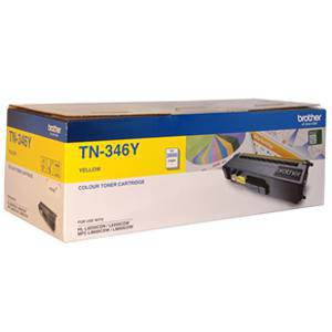 Brother TN346 Yellow Toner Cartridge (3500 Pages)