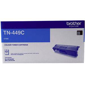 Brother TN449C Cyan Toner Cartridge (9000 Page)