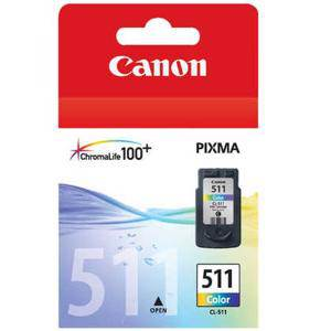 Canon 511 Colour Ink Cartridge (245 Pages)