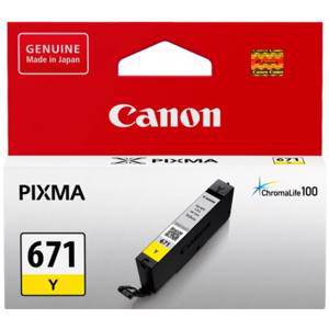 Canon 671 Yellow Ink Cartridge (350 Pages)