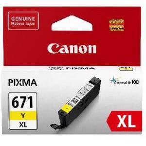 Canon 671XL Yellow Ink Cartridge (690 Pages)