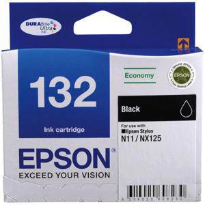 Epson 132 Black Ink Cartridge (185 Pages)