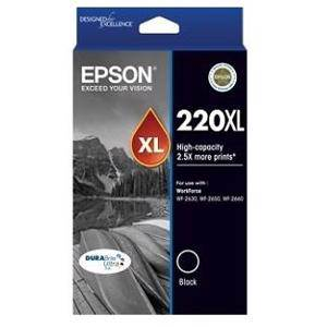 Epson 220XL Black Ink Cartridge (500 Pages)