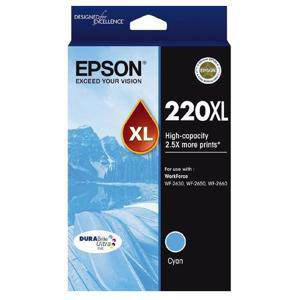 Epson 220XL Cyan Ink Cartridge (450 Pages)