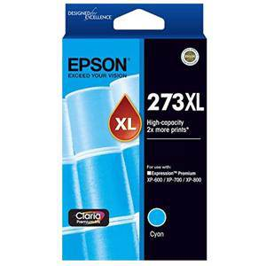 Epson 273XL Cyan Ink Cartridge (650 Pages)