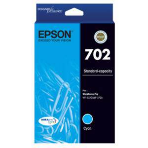 Epson 702 Cyan Ink Cartridge (300 Pages)