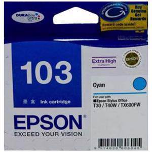 Epson T103 Cyan Ink Cartridge (865 Pages)