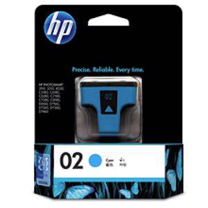 HP 02 Cyan Ink Cartridge (400 Pages)