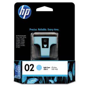 HP 02 Light Cyan Ink Cartridge (230 Pages)