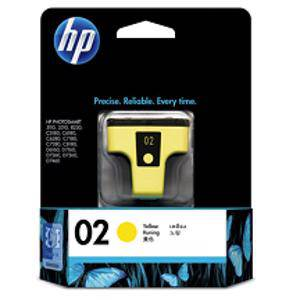 HP 02 Yellow Ink Cartridge (400 Pages)