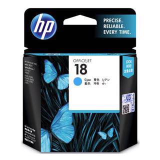 HP 18 Cyan Ink Cartridge (850 Pages)