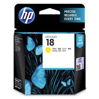 HP 18 Yellow Ink Cartridge (850 Pages)