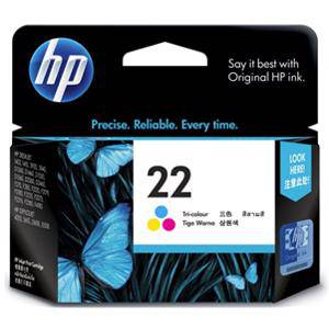 HP 22 Colour Ink Cartridge (165 Pages)