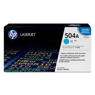 HP 504A Cyan Toner Cartridge (7000 Pages)
