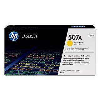 HP 507A Yellow Toner Cartridge (6000 Pages)