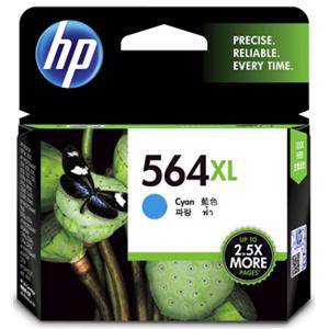 HP 564XL Cyan Ink Cartridge (750 Pages)