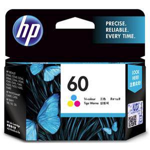 HP 60 Colour Ink Cartridge (165 Pages)