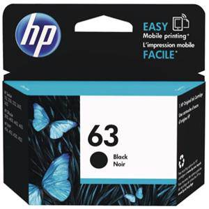 HP 63 Black Ink Cartridge (190 Pages)