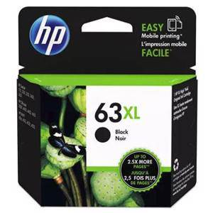 HP 63XL Black Ink Cartridge (480 Pages)