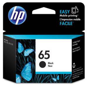 HP 65 Black Ink Cartridge (120 Pages)