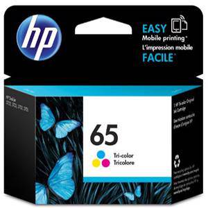 HP 65 Colour Ink Cartridge (100 Pages)
