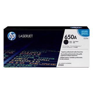 HP 650A Black Toner Cartridge (13,500 Pages)