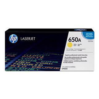 HP 650A Yellow Toner Cartridge (15,000 Pages)