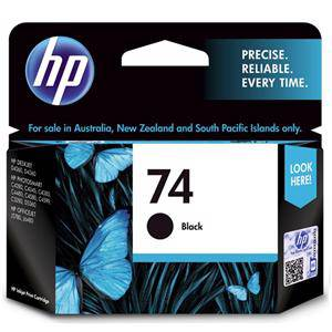 HP 74 Black Ink Cartridge (200 Pages)
