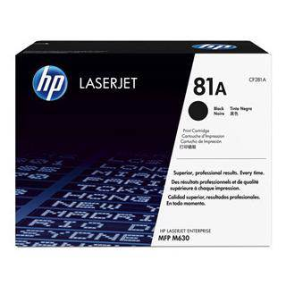 HP 81A Black Toner Cartridge (10,500 Pages)